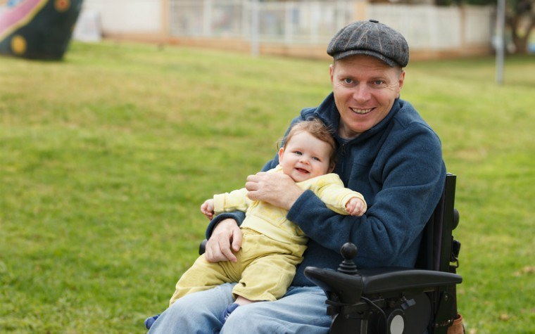 Disabled parent with child