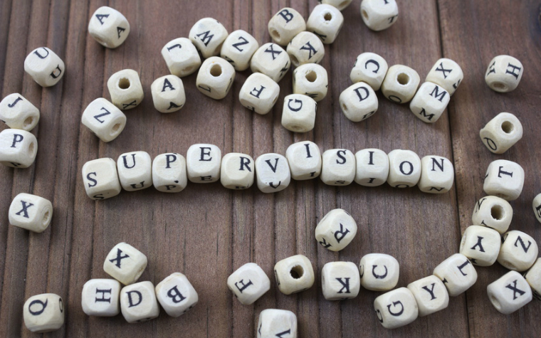 alphabet letters spelling out supervision
