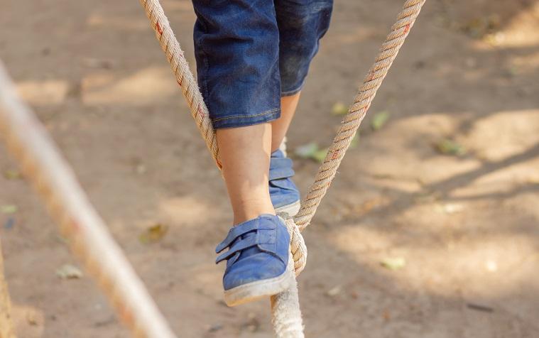 Walking tightrope - risk