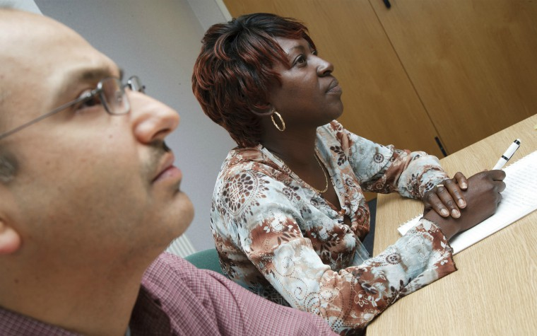 service user and advocate in meeting