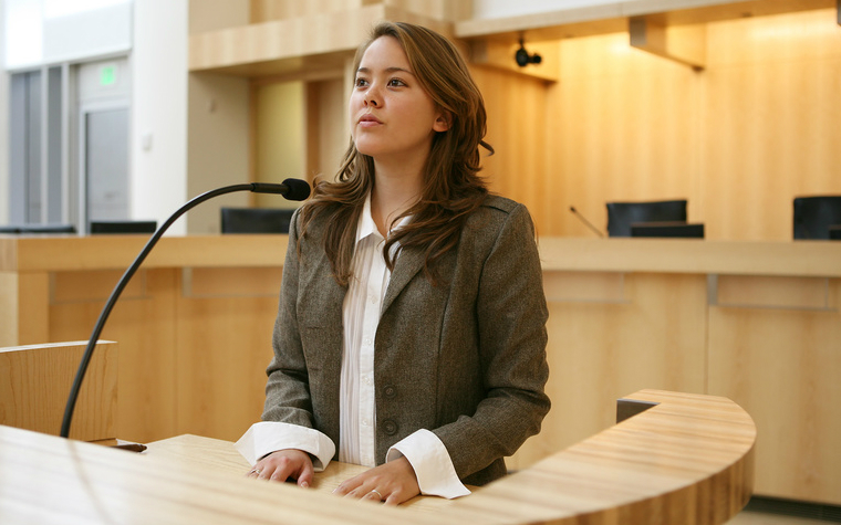 A practitioner testifying in court