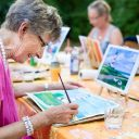 Art class at care home