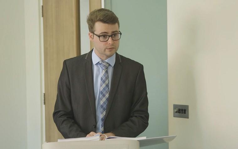 social work witness giving evidence (video still)