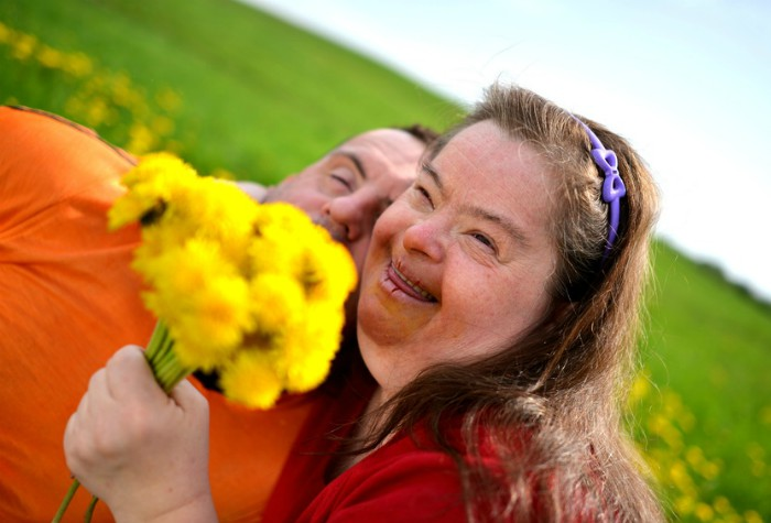 happy couple with down's syndrome