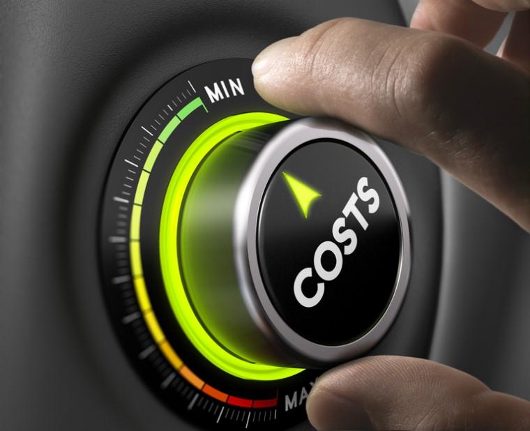 Dial with minimum and maximum costs