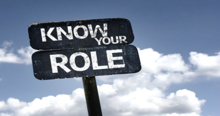 Know your role sign