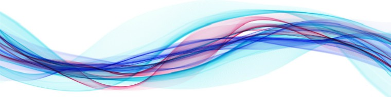 ribbons of colour to illustrate fluctuation