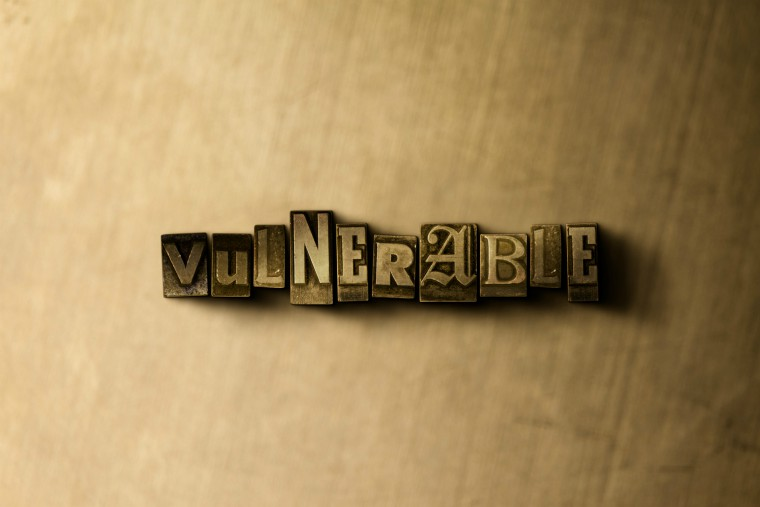 The word 'vulnerable' spelt out