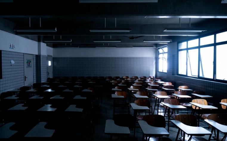 Empty classroom - school closed due to coronavirus