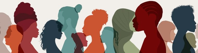 Illustration of adults from different ethnic backgrounds