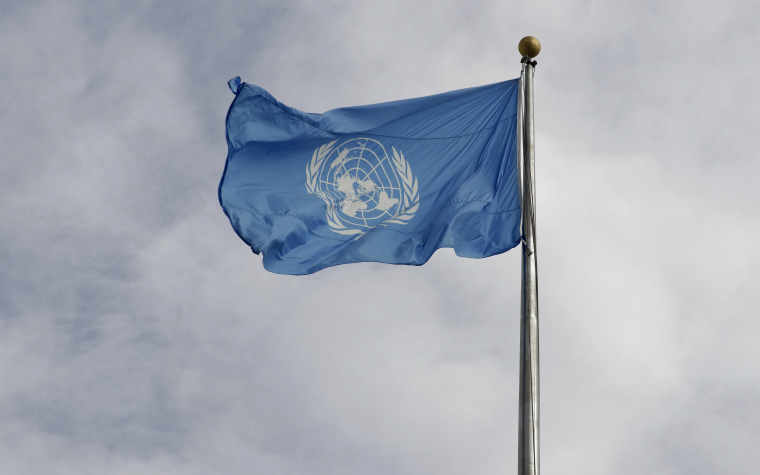 Description_of_image_used_in_un_convention_rights_of_the_child_legislation_united_nations_flag_in_wind_EgonBomsch_imageBROKER_REX_Shutterstock