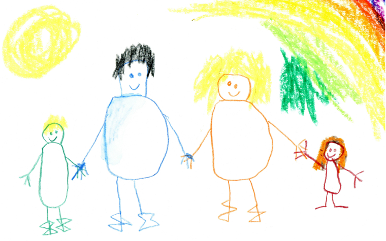 Description_of_image_used_in_adoption_research_review_child-drawing_happy_family