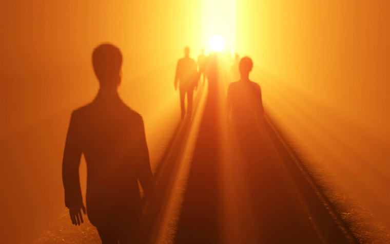 description_of_image_used_in_prevent_and_social_work_policy_procedures_and_resources_people_walking_into_the_light_photobank_fotolia