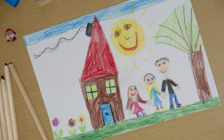 description_of_image_used_in_step_parent_adoption_childs_drawing_of_family