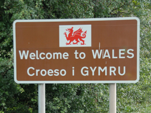 wales sign to illustrate the welsh hub