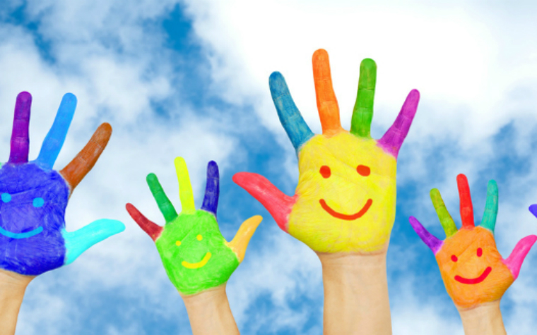 Description_of_image_used_in_child_development_introduction_colourful_painted_hands_vitalinka_fotolia