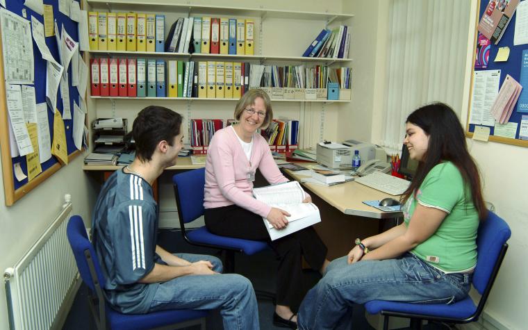 Couple meeting councillor