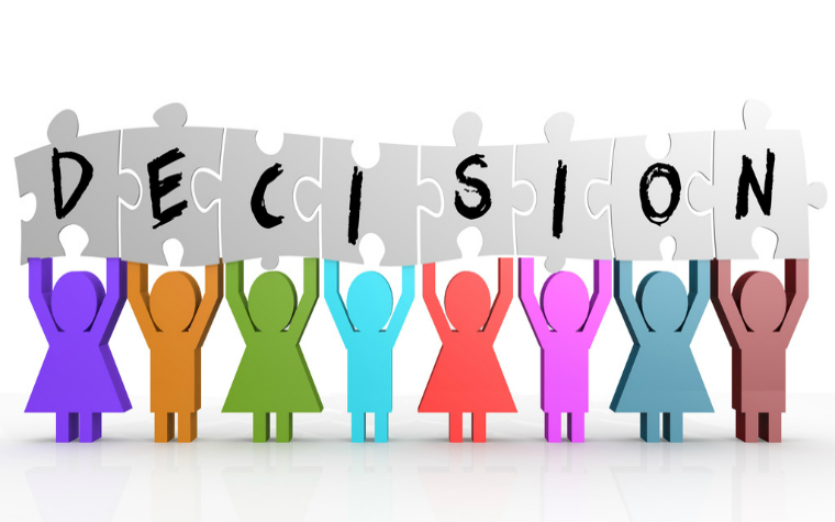 description_of_image_used_in_decision-making_in_adult_safeguarding_figures_holding_up_the_word_decision