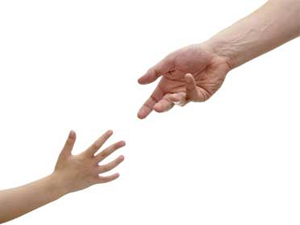 image to illustrate Using attachment theory to work with adults helping hands coming together
