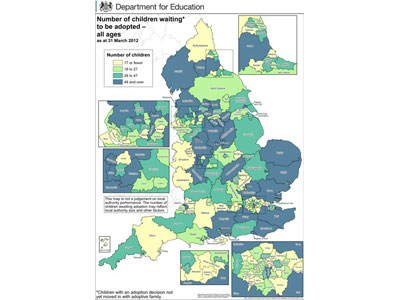 Map Of Uk Local Authorities.Government Publishes Controversial Map Of Adoption Hotspots