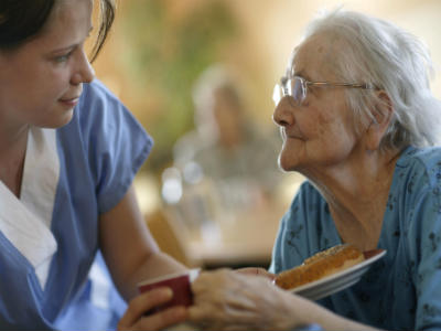 Care assistant and resident