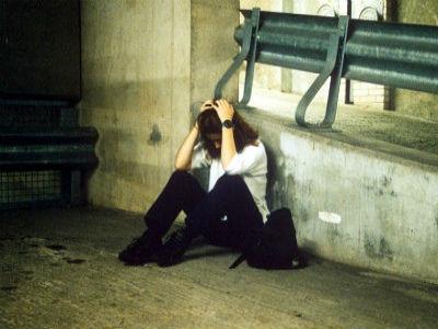 Homeless woman Rex Features