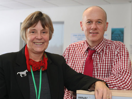 Group adult safeguarding manager Claire Bearder and Mash operations manager Simon Holmes (UNP/Neil O'Connor)