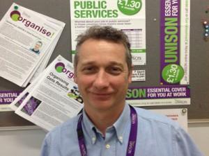 Alan Clyne, adult social care convenor for Unison at Surrey County Council.