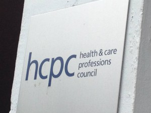 Health and Care Professions Council sign
