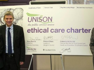 Unison's ethical care charter