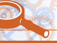 Ofsted magnifying glass symbol
