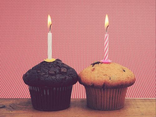 Two birthday cakes