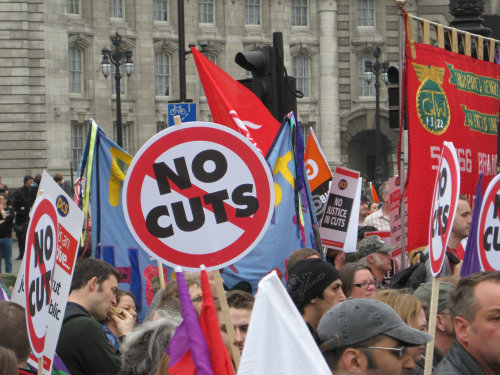 Anti-cuts protest