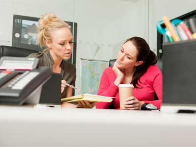 Social workers in an office