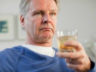 Older person drinking