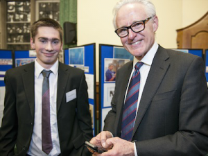 Young carer and Norman Lamb