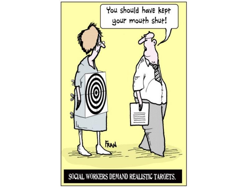 Social work cartoon: 'The new targets' - Community Care