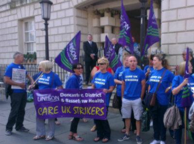 care uk strikers
