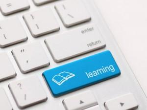 Keyboard key marked learning