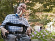 Man with muscular dystrophy