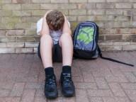 sad school child