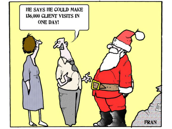 Its Not Just About Health Care >> Social work cartoon: 'Santa's dream job' | Community Care