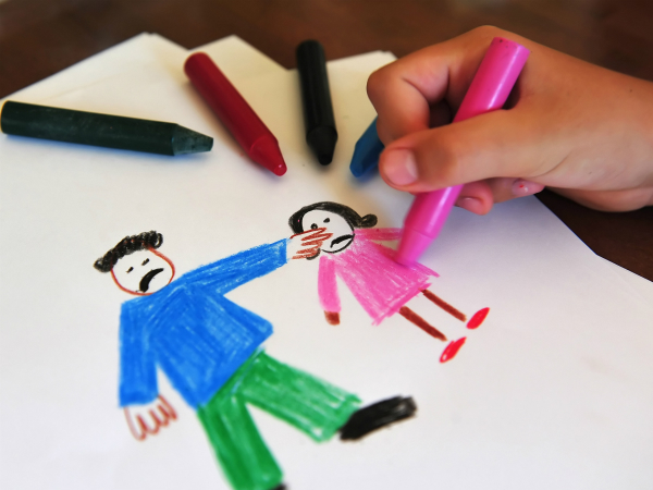 child drawing of domestic violence