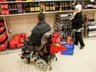 disabled adult shopping with carer