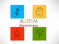 Autism awareness icon abstract illustration