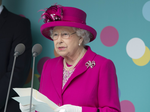 Queen Elizabeth at her 90th birthday celebrations