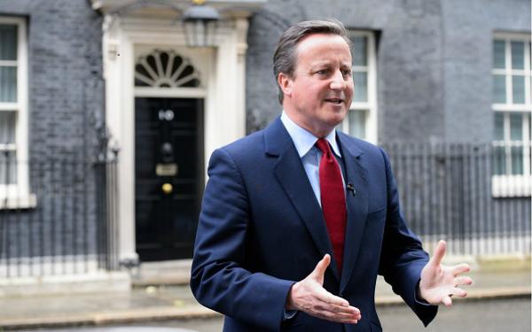 David Cameron announcing resignation