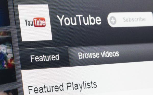 Screenshot of YouTube website