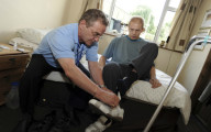 Home carer supporting male client