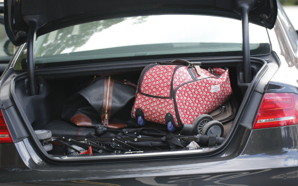 suitcase in car boot